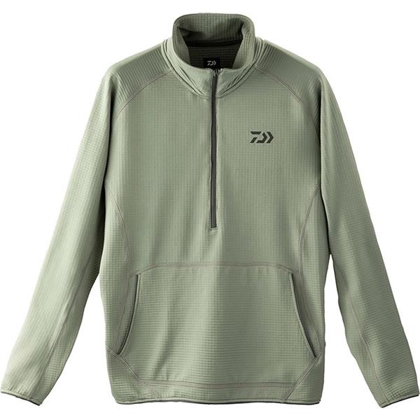 ダイワ ミドルウェイト ハーフジップシャツ グレー DE-91009 (防寒着 防寒ミドラー)