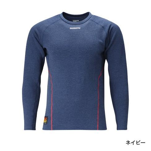 シマノ BHP+℃ ストレッチアンダーシャツ (極厚) ネイビー IN-020Q (発熱肌着 防寒インナー)