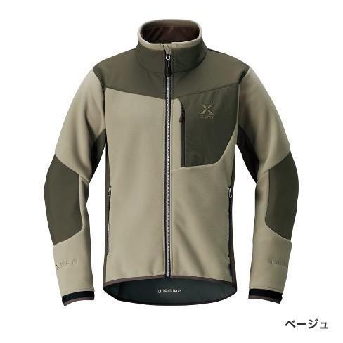 シマノ XEFO GTウインドスーツ オプティマルジャケット ベージュ JA-290R (防寒着 フィッシングウェア ミドラー)