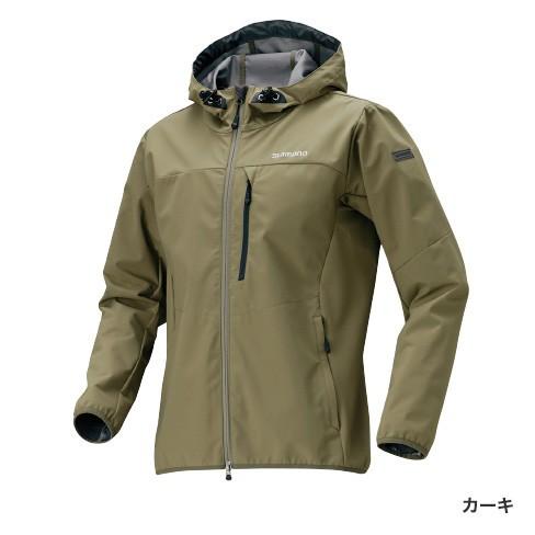 シマノ ストレッチ3レイヤーフーディジャケット カーキ JA-040Q (防寒着 防寒インナー)