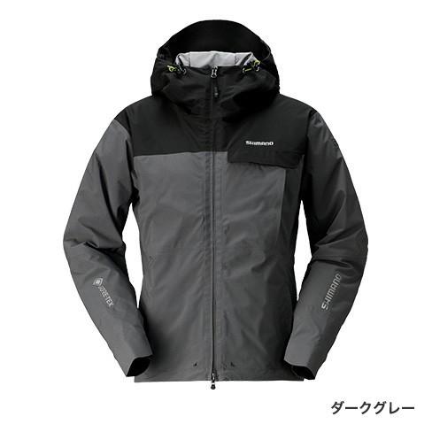 シマノ GTEX エクスプローラーウォームジャケット ダークグレー RB-01JS (防寒着 防寒ジャケット 釣り)
