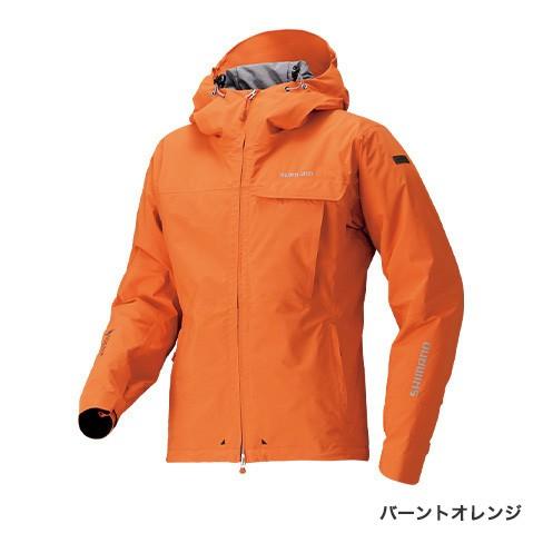 シマノ GTEX エクスプローラーウォームジャケット RB-01JS バーントオレンジ (防寒着 防寒ジャケット 釣り)