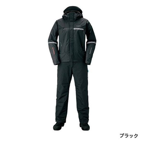 シマノ DSアドバンスWスーツ ブラック RB-025S (防寒着 上下セット 釣り)