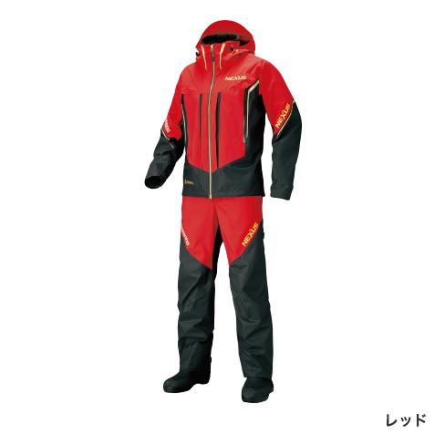 シマノ N GTプロテクティブスーツ EX レッド RT-119S (防寒着 上下セット 釣り)