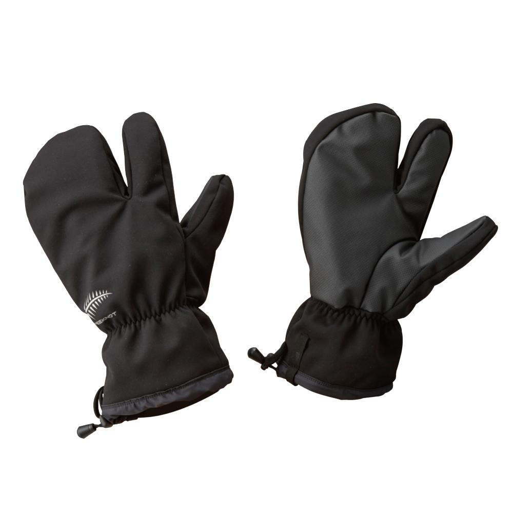 ハヤブサ フリーノット FOURON オーバーシェルグローブ ブラック F Y4189 (フィッシンググローブ 防寒手袋)