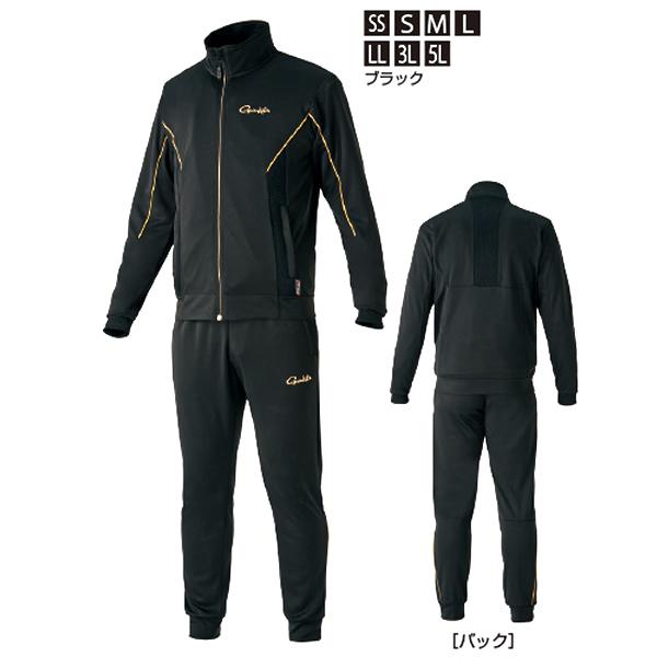 がまかつ ライトクールスウェットスーツ ブラック GM-3626 (フィッシングウェア 上下セット)