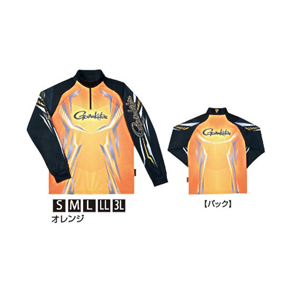 がまかつ 2WAY PジップS長袖 オレンジ GM-3616 (シャツ)