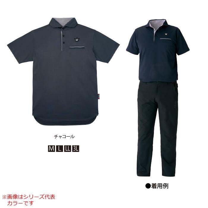 がまかつ ポロシャツ(クラウン L) ネイビー GM-3636 (シャツ)
