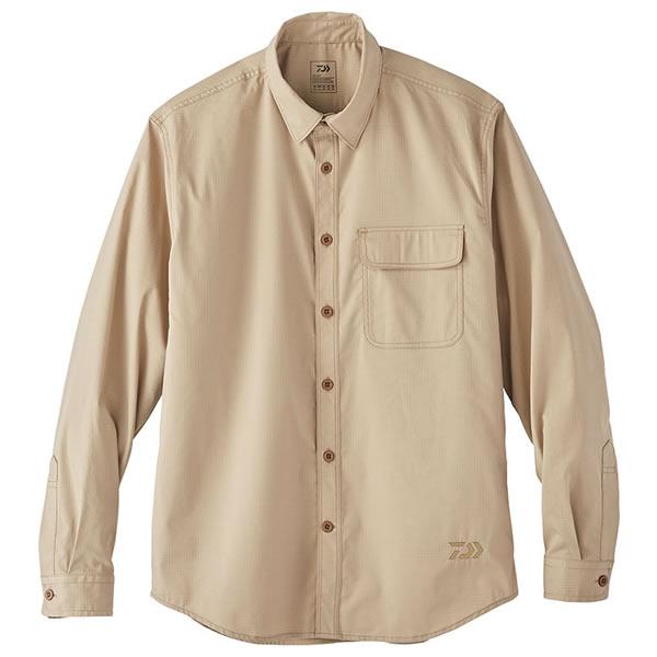 ダイワ クールマックス ストレッチシャツ モカベージュ DE-88020 (フィッシングシャツ Tシャツ)