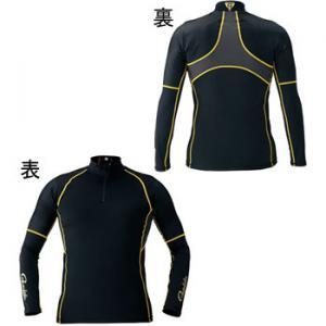 がまかつ コンプレッションジップシャツ GM-3387 ブラック