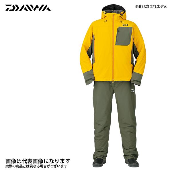 DW-3107 レインマックス ハイパー ストレッチ ウィンタースーツ サフロン XL ダイワ 釣り 防寒着 上下セット 防寒