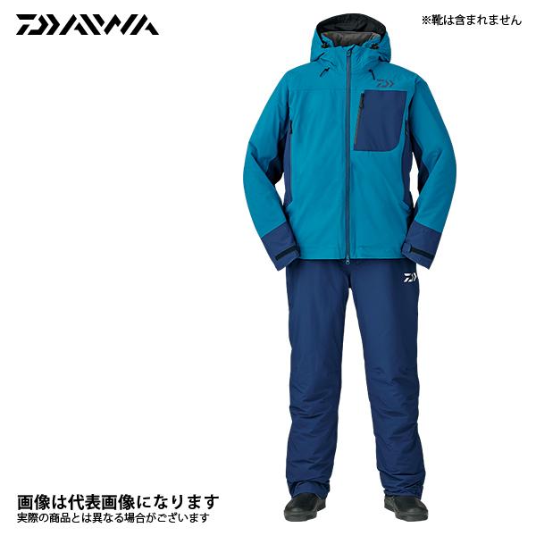 DW-3107 レインマックス ハイパー ストレッチ ウィンタースーツ モロッカンブルー 4XL ダイワ 釣り 防寒着 上下セット 防寒