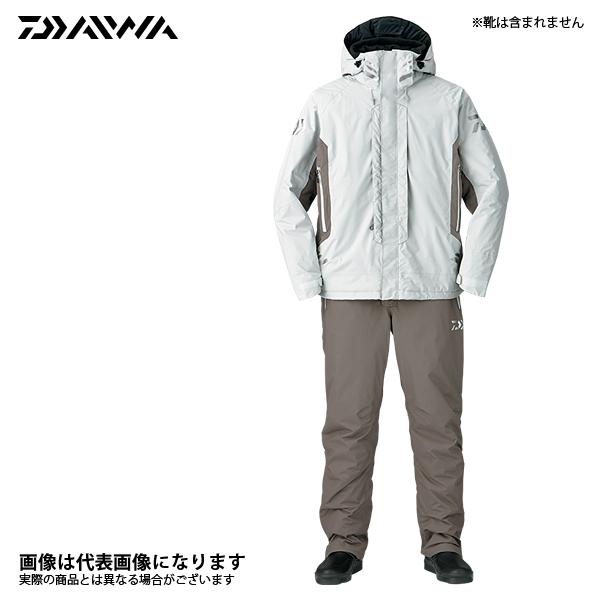 DW-3407 レインマックス ハイパー ハイロフト ウィンタースーツ ライトグレー 2XL ダイワ 釣り 防寒着 上下セット 防寒