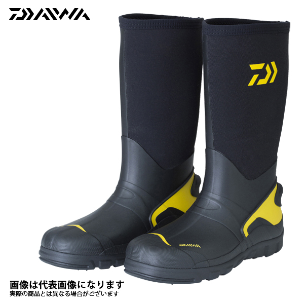 【ダイワ】WB-3101W ウォームアップブーツ ブラック M 25.5 ワイド釣り 長靴 スパイク ダイワ