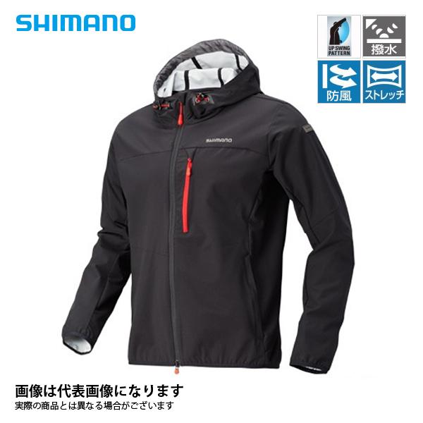 JA-040Q ストレッチ3レイヤーフーディジャケット ダークグレー L シマノ 釣り 防寒着 ジャケット 防寒