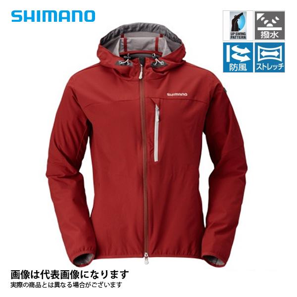 JA-040Q ストレッチ3レイヤーフーディジャケット バーガンディ L シマノ 釣り 防寒着 ジャケット 防寒