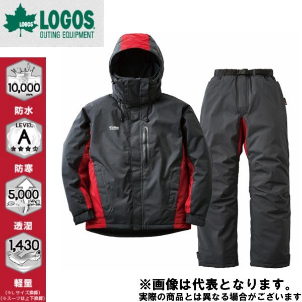 30344253 ストレッチ防水防寒スーツ リフェット 25チャコール M ロゴス アウトドア 防寒着 上下セット 防寒
