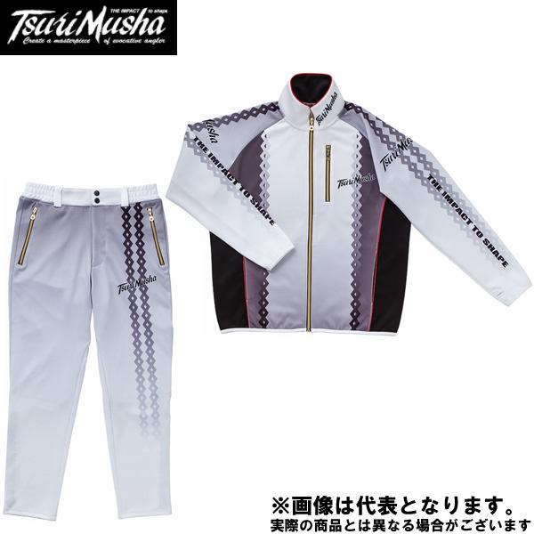 【釣武者】W・EYE ライトプレーンスーツ Lホワイト
