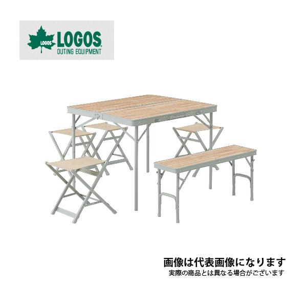 【ロゴス】LOGOS LIFE ベンチテーブルセット6(73183014)