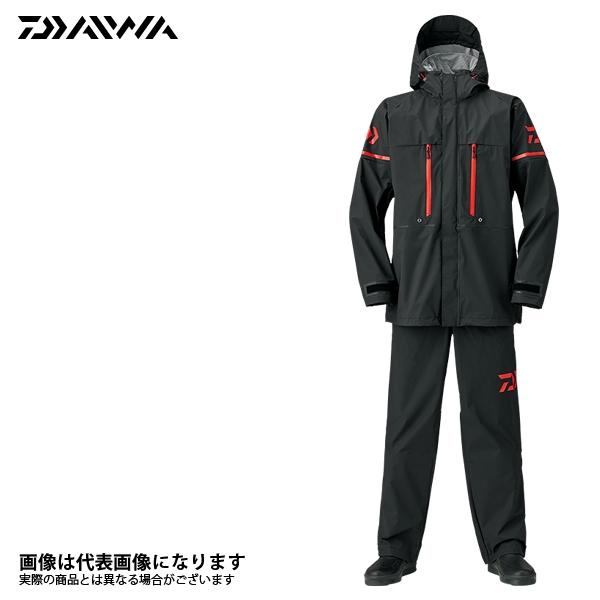 【ダイワ】DR-9008 PVCオーシャンサロペットレインスーツ ブラック M 2018新製品レインウェアダイワ レインウェア 雨具