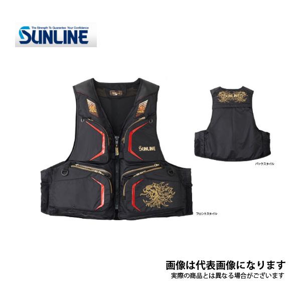 【サンライン】STL-220 サンライン・フローティングベスト ブラック F
