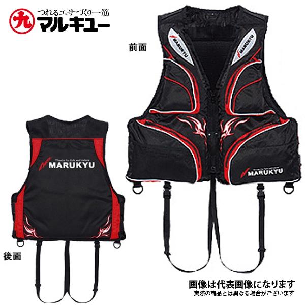 PFD01 フローティングベスト ブラック L マルキュー ライフジャケット 肩掛けタイプ 国土交通省型式承認品 桜マーク
