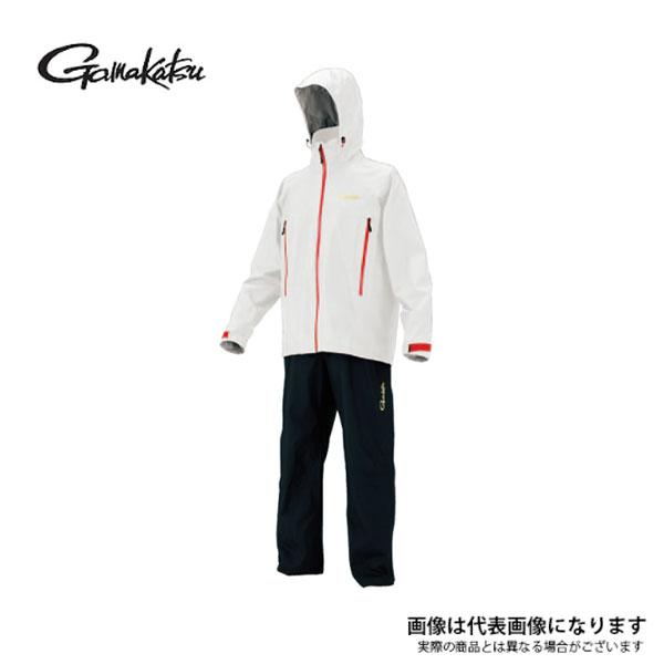 【がまかつ】GM3446 ゴアテックスレインスーツ ホワイト LL