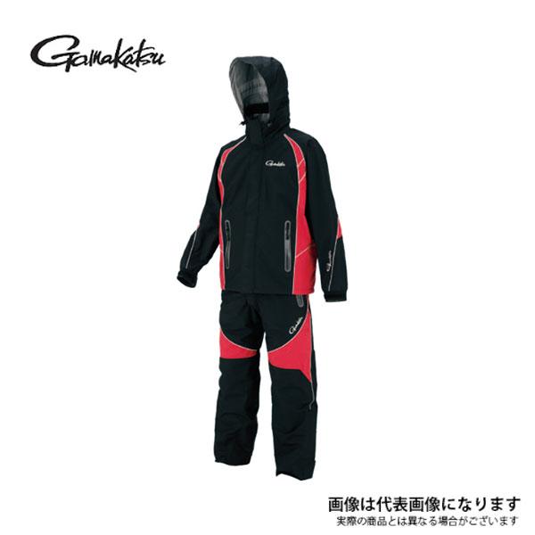 【がまかつ】GM3449 フィッシングレインスーツ (超耐久撥水仕様) ブラック L