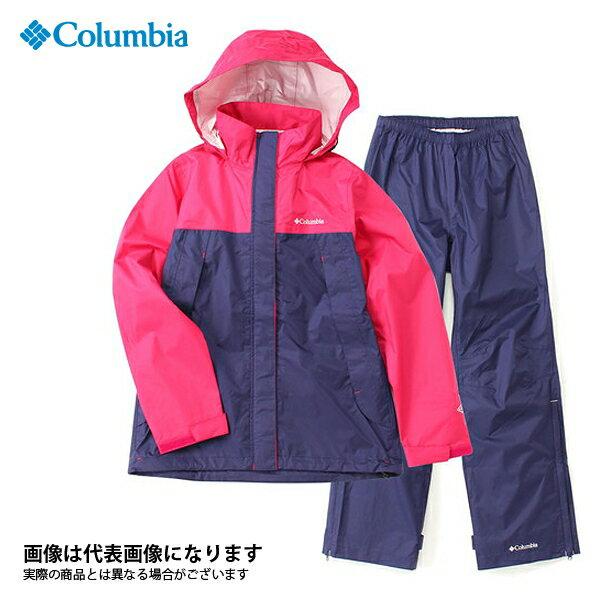 【コロンビア】シンプソンサンクチュアリウィメンズレインスーツ 600 Bright Rose L(PL0125)
