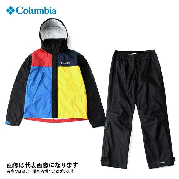 【コロンビア】シンプソンサンクチュアリレインスーツ 011 ブラックマルチ XL(PM0124)
