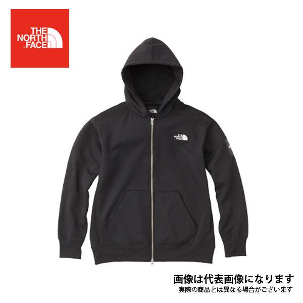 【ノースフェイス】スクエアロゴフルジップ(メンズ) ブラック L(NT61836)
