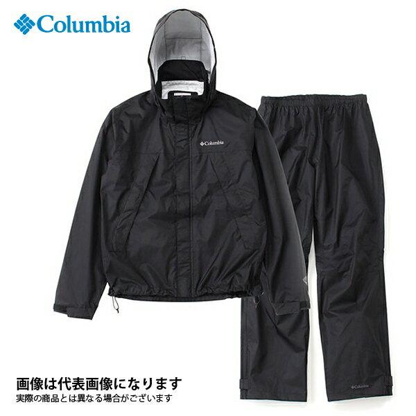 【コロンビア】シンプソンサンクチュアリレインスーツ 010 ブラック M(PM0124)