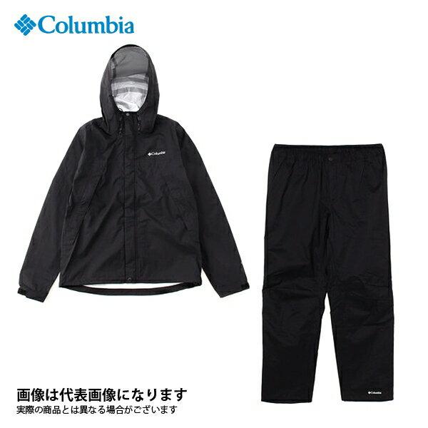 【コロンビア】ピクシーサンクチュアリレインスーツ 010 Black M(PM0013)