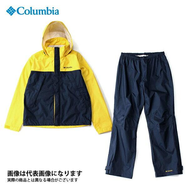 【コロンビア】シンプソンサンクチュアリレインスーツ 704 ディープイエロー L(PM0124)