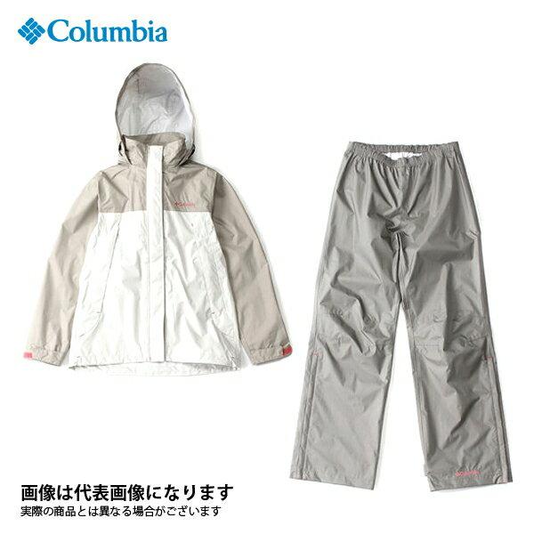 【コロンビア】シンプソンサンクチュアリウィメンズレインスーツ 160 Fossil XL(PL0125)