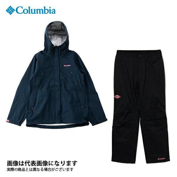 【コロンビア】ピクシーサンクチュアリウィメンズレインスーツ 425 Columbia Navy S(PL0137)