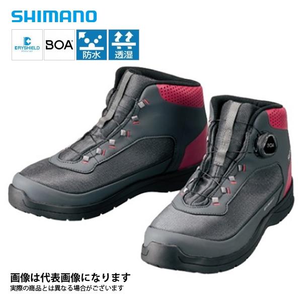【シマノ】ドライシールドデッキラジアルフィットシューズHW チャコールグレー 26.5cm(FS-082R)