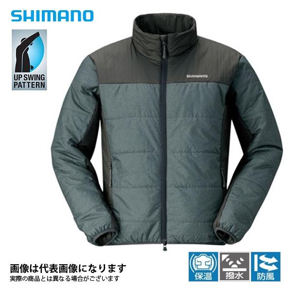 JA-051Q ライトインシュレーションジャケット チャコール 2XL シマノ 釣り 防寒着 ジャケット 防寒