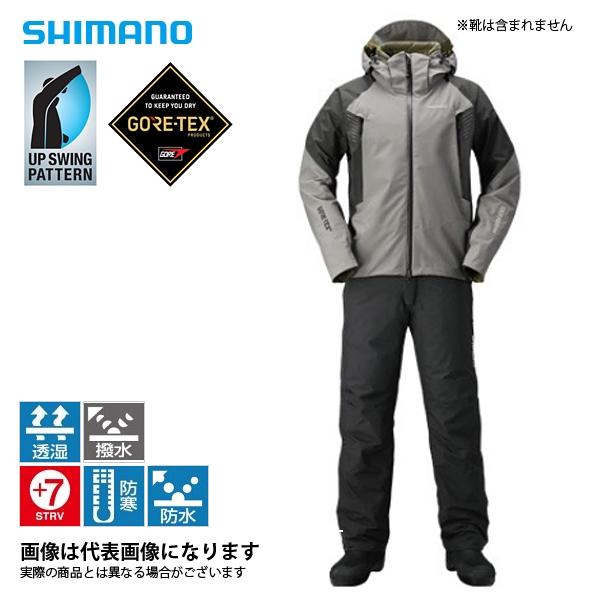RB-017R ゴアテックス ベーシックウォームスーツ ブラック LS シマノ 釣り 防寒着 上下セット 防寒