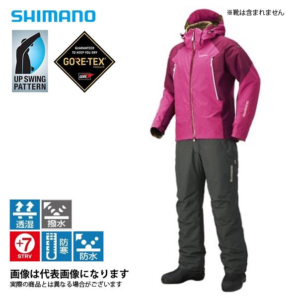 RB-017R ゴアテックス ベーシックウォームスーツ パープルピンク XL シマノ 釣り 防寒着 上下セット 防寒