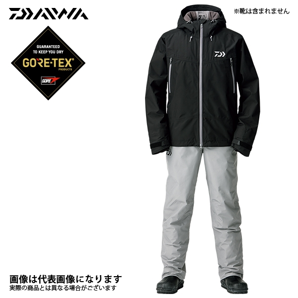 DW-1908 ゴアテックス ファブリクス ウィンタースーツ ブラック L ダイワ 釣り 防寒着 上下セット 防寒