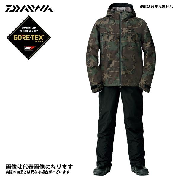 DW-1908 ゴアテックス ファブリクス ウィンタースーツ グリーンカモ M ダイワ 釣り 防寒着 上下セット 防寒