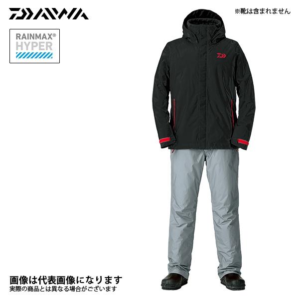 XL 防寒着 ダイワ ブラック 上下セット レインマックス 釣り ウィンタースーツ DW-35008 防寒