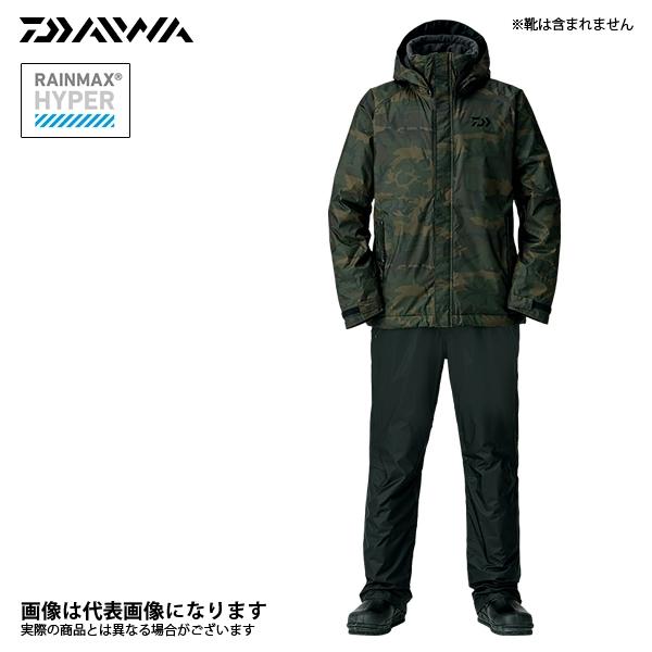 DW-35008 レインマックス ウィンタースーツ グリーンカモ 4XL ダイワ 釣り 防寒着 上下セット 防寒