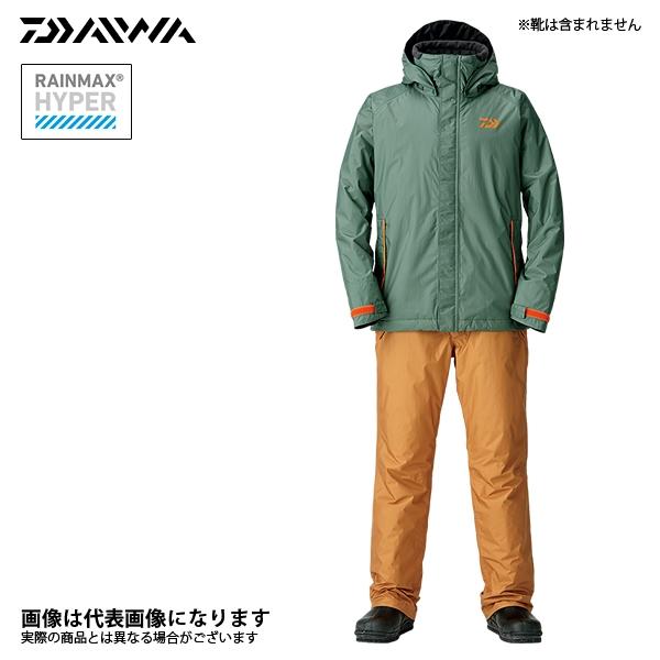 DW-35008 レインマックス ウィンタースーツ アーミーカーキ L ダイワ 釣り 防寒着 上下セット 防寒