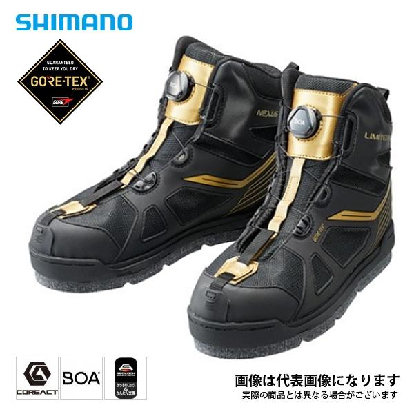 【シマノ】ゴアテックス フレックスラバーピンFシューズ リミテッドプロ LTDブラック 26.0cm(FS-175R)