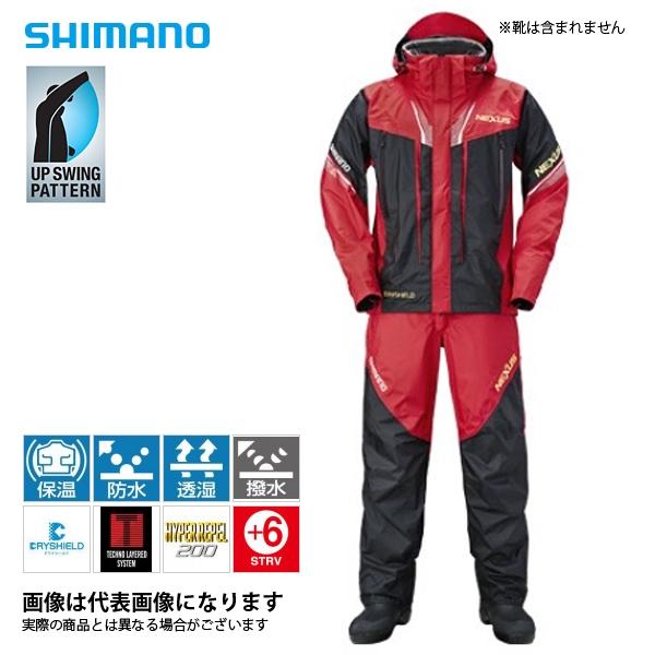 大特価・定価の36%引き!RT-125R ネクサス DSプロテクトスーツ XT レッド XL シマノ 釣り 防寒着 上下セット 防寒