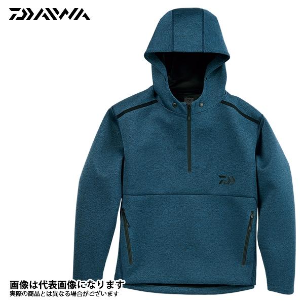 DJ-28008 ウィンドブロック ニットハーフジップフーディー フェザーブルー XL ダイワ 釣り 防寒着 ジャケット 防寒