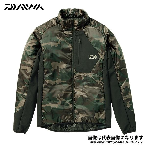 DJ-24008 プリマロフト ライトジャケット グリーンカモ M ダイワ 釣り 防寒着 ジャケット 防寒