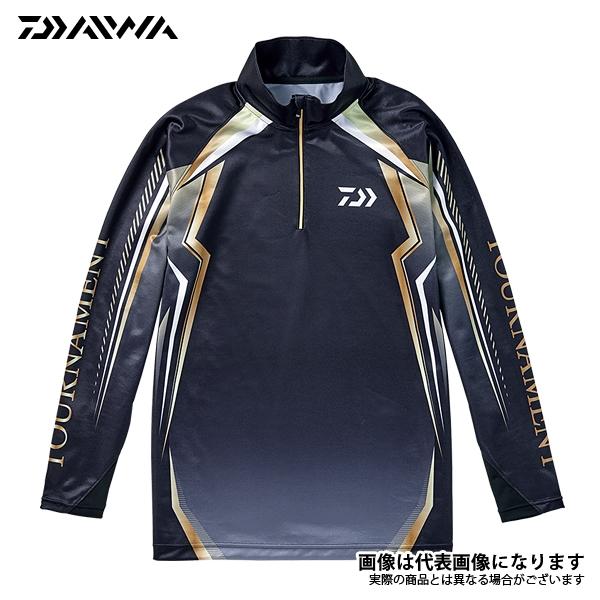 【ダイワ】トーナメント ドライシャツ ブラック L(DE-77008T)